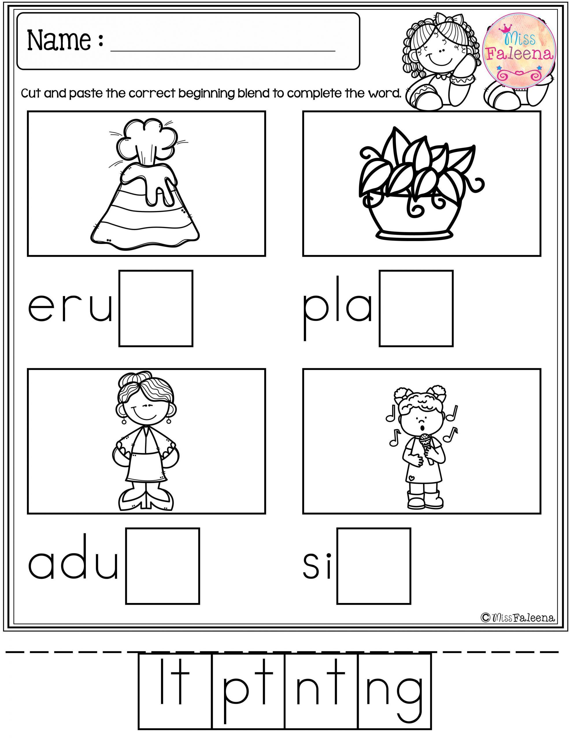 small resolution of Inflected Endings Worksheets 2nd Grade   Blends activities