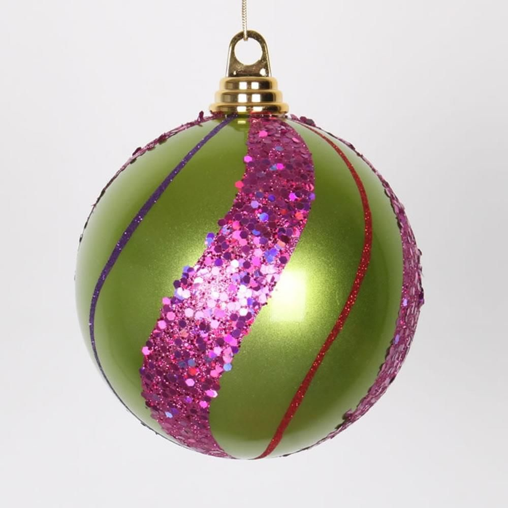 5 5 Lime Ceris Purp Red Candy Glit Ball Ornament Glitter Christmas Christmas Snowflakes Ornaments Turquoise Glitter