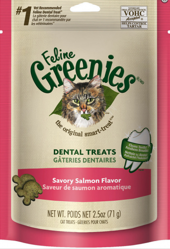Greenies Feline Dental Salmon Flavor Cat Treats Dental Treats Cat Treats Greenies