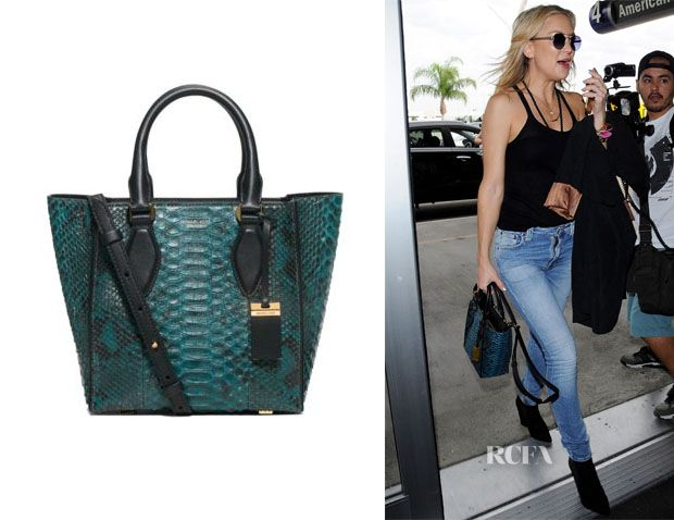 25a6b7dfd70288 Kate Hudson's Michael Kors Gracie Small Python Tote | The bags ...