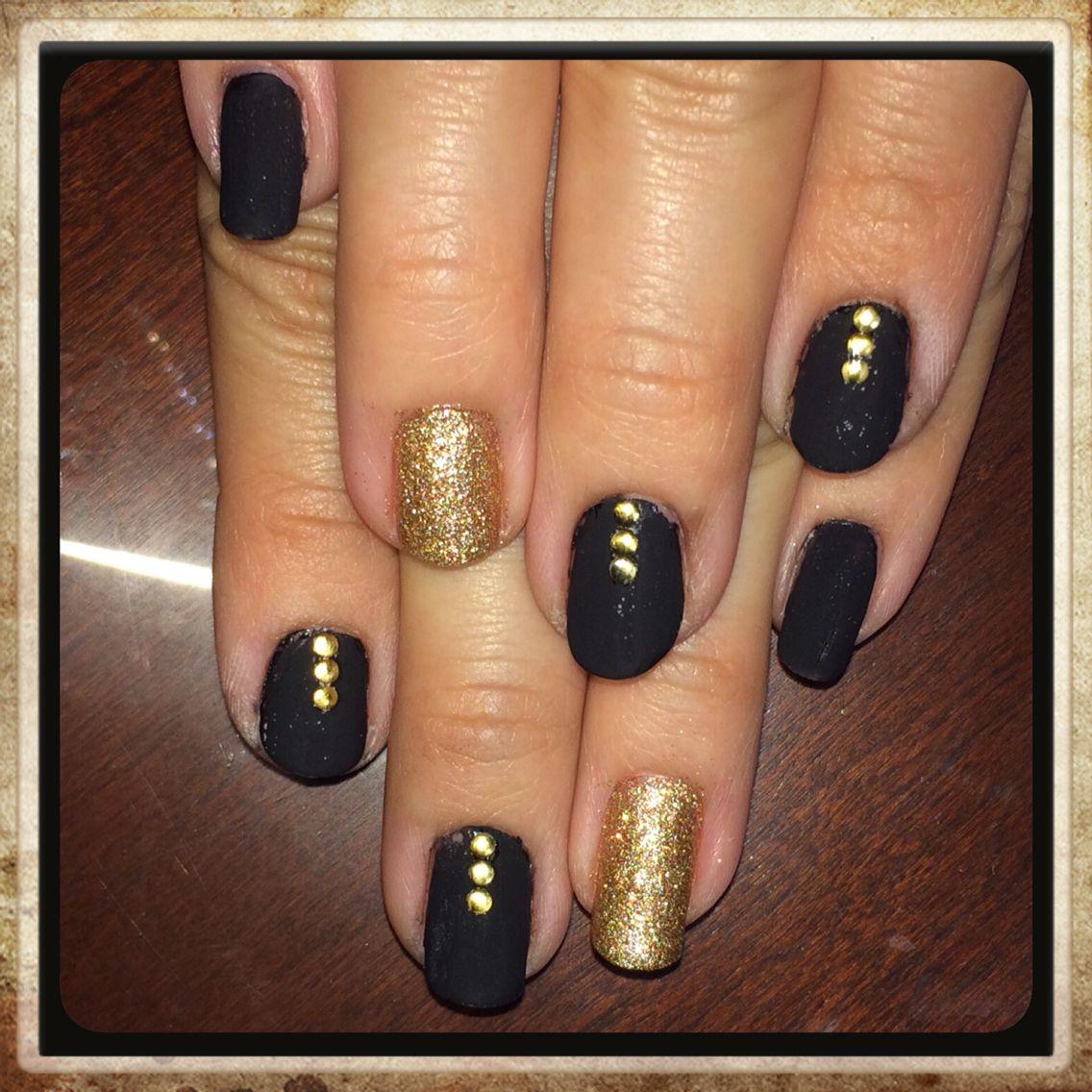 matte stud nails   Nail art   Pinterest   Stud nails