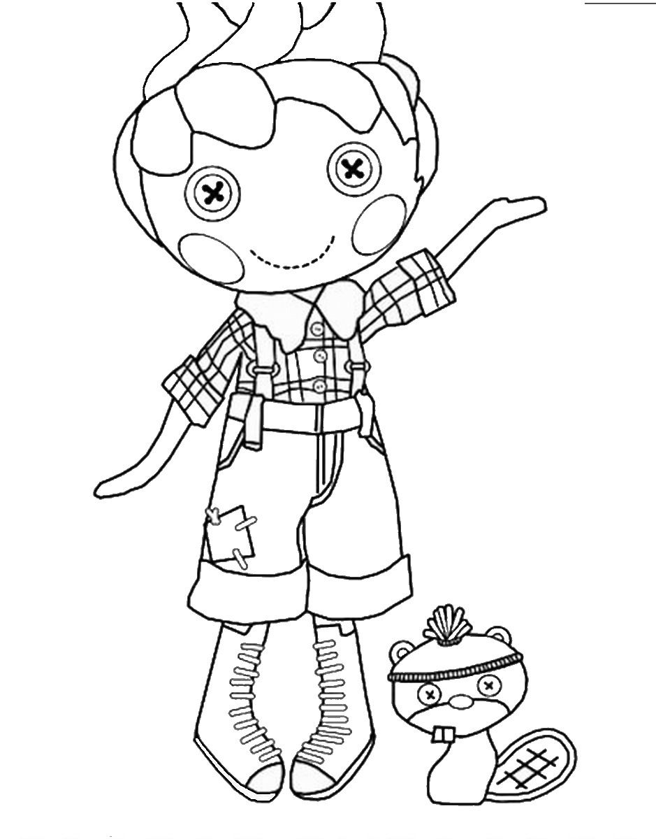 lalaloopsy boy coloring pages to print Lalaloopsy Coloring Pages