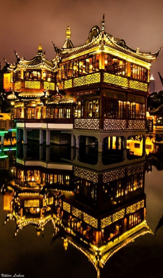 Huxinting Tea House in Shanghai, China
