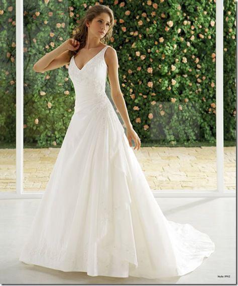 fotos de vestidos de novia sencillos y elegantes (4) | Vestidos de ...