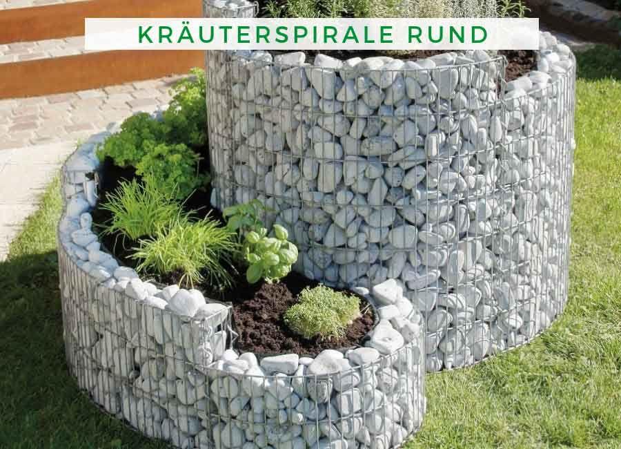 Krauterspirale Garten Terrando Grunkraut Krauterspirale Rund Krauterschnecke Bauen Hinterhofideen Garten Hochbeet