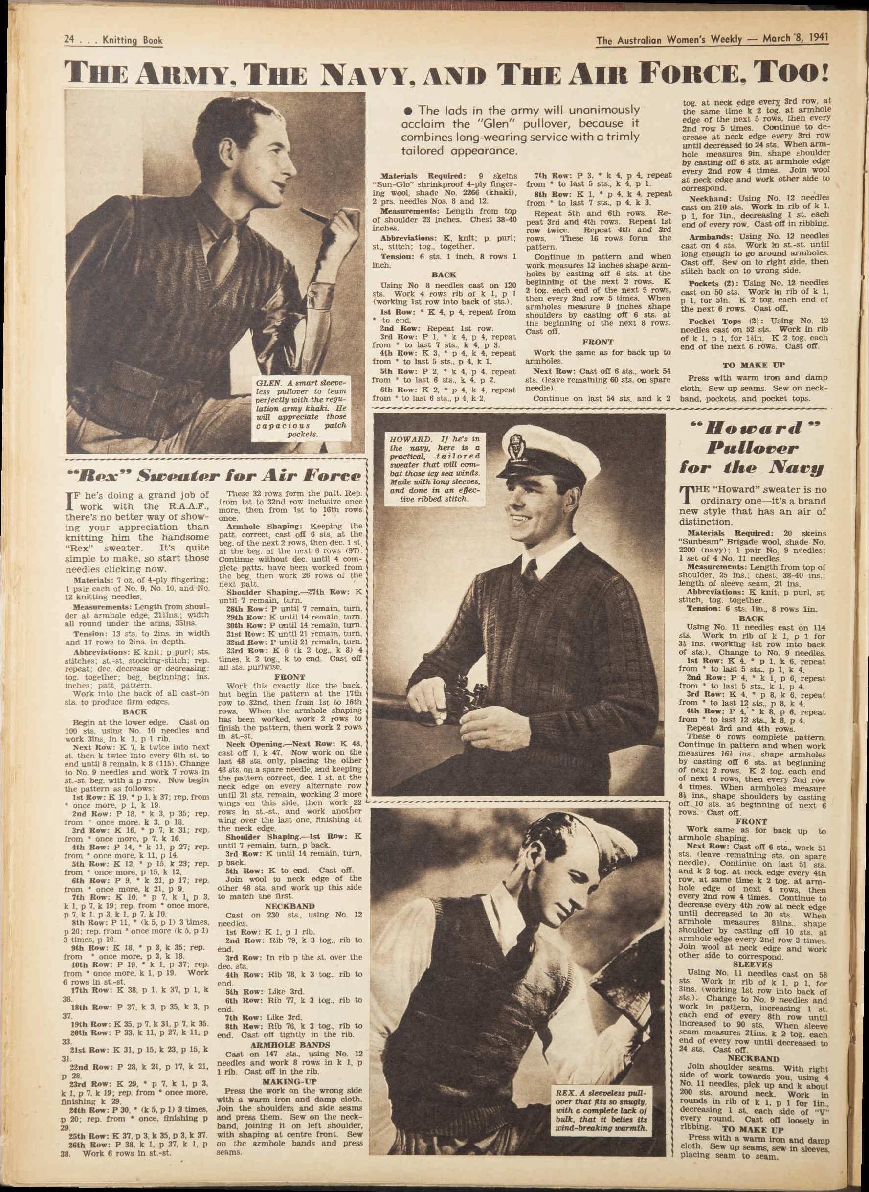 Issue: 8 Mar 1941 - The Australian Women\'s Week... | vintage ...