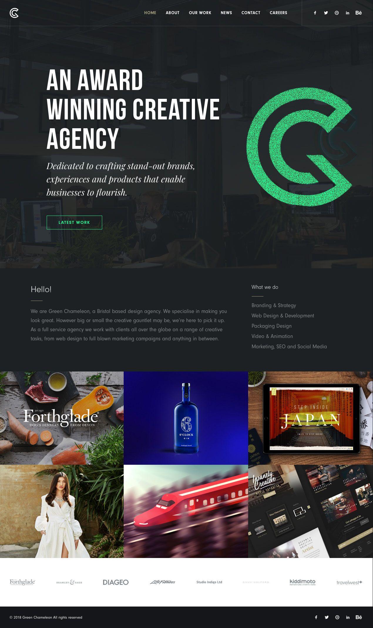 Green Chameleon Landing Page Design Inspiration Lapa Ninja Landing Page Design Best Landing Page Design Page Design