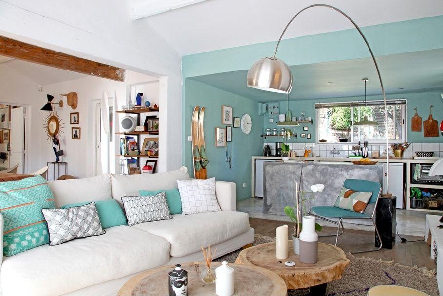 Douceur vert d\'eau | Bureau | Pinterest | Salon vert, Douceur et Vert
