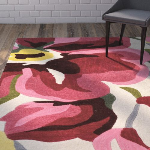 West Wick Hand-Tufted Pink/Beige Area Rug | Pink beige, Living rooms ...