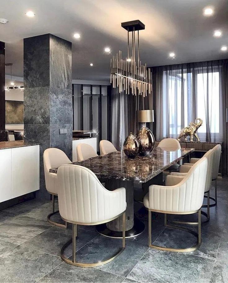 Elegant Modern Dining Room Ideas That Are Simply Charming 19 Dining Room Design Luxury Dining Room Interiors Luxury Dining