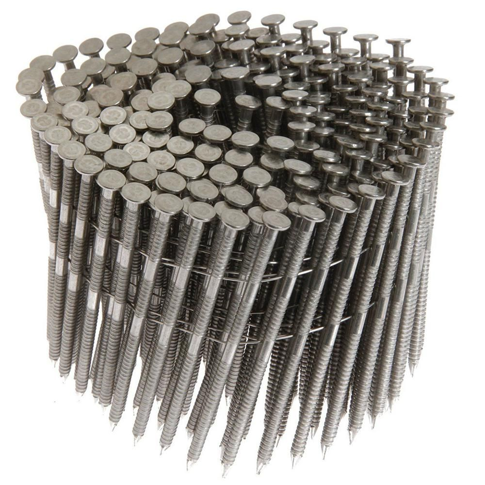 Primesource 1 1 4 In X 0 09 In 15 Degree Ring Shank Stainless Steel Wire Coil Siding Nail 1 200 Per Box Maxc62874 Stainless Steel Nails Stainless Steel Rings Steel Siding