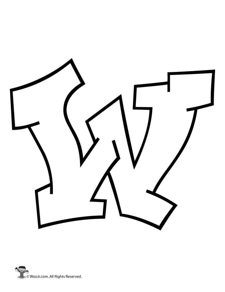 Graffiti Capital Letter W Woo Jr Kids Activities Lettering Alphabet Lettering Bubble Letters Alphabet
