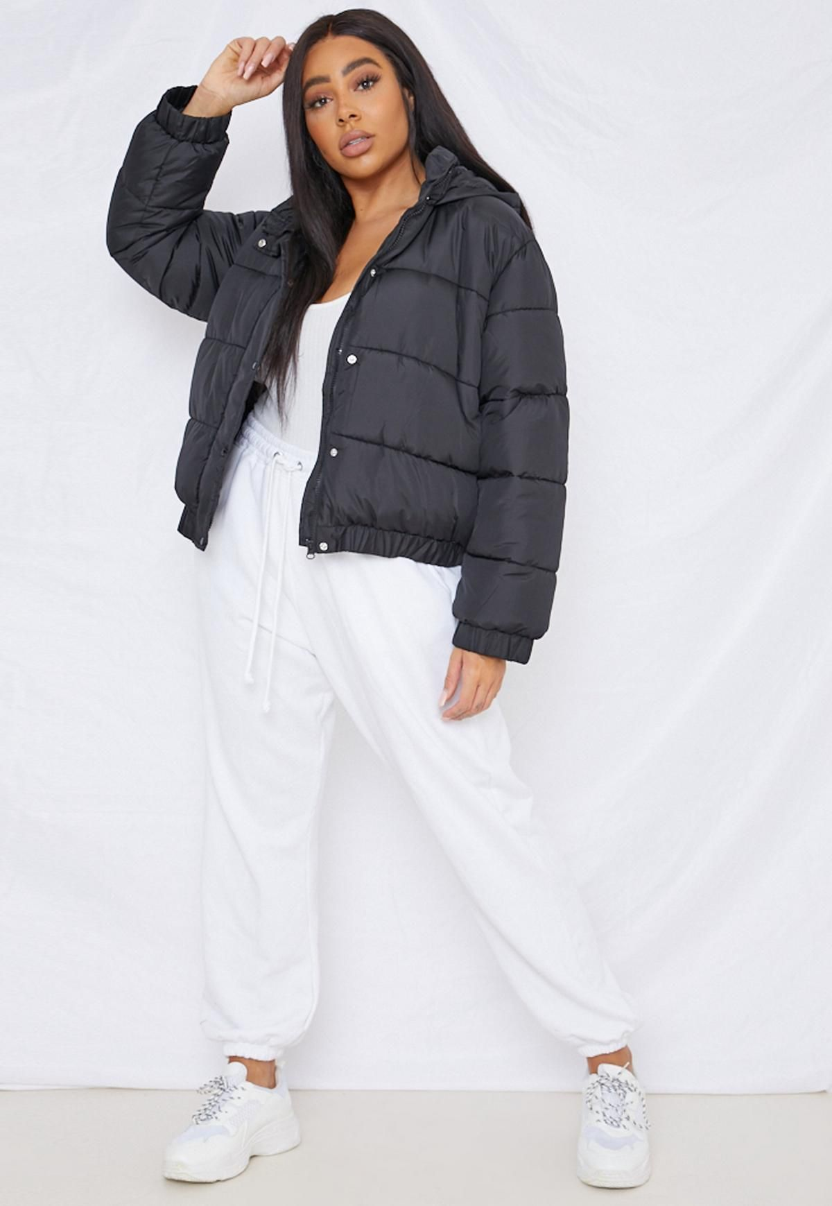 Missguided Plus Size Black Hooded Puffer Jacket In 2021 Puffer Jacket Women Black Puffer Jacket Puffer Jacket Outfit [ 1739 x 1200 Pixel ]