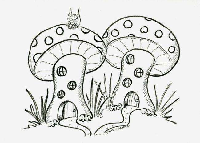 fensterbilder-herbst-vorlage-ausdrucken-ausmalen-schablone-pilze ...
