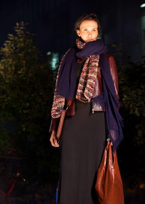 #m0851 | Leather Jacket, Scarves, Leather Bag, Leather Ipad Cover | Fashionshow | Festival mode et design de Montréal, summer 2012 www.m0851.com/home/