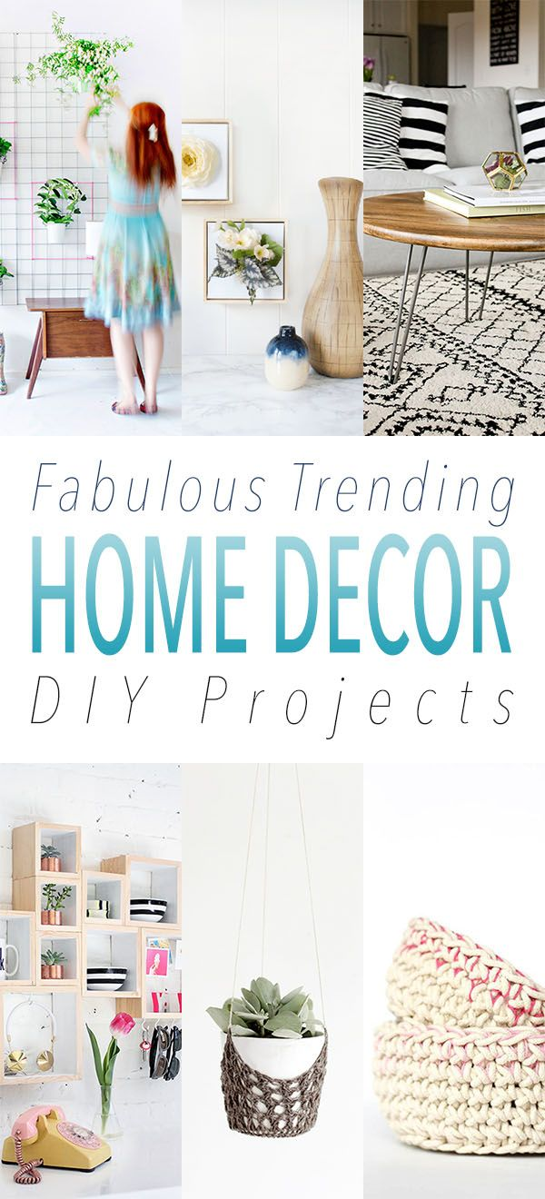 Fabulous Trending Home Decor DIY Projects   Craft ideas, Crafts and ...