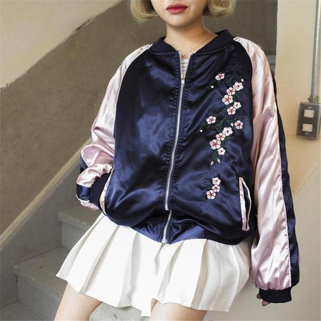 Korean Harajuku Kawaii Baseball Jacket Womens Shirts Fashion Korean Women