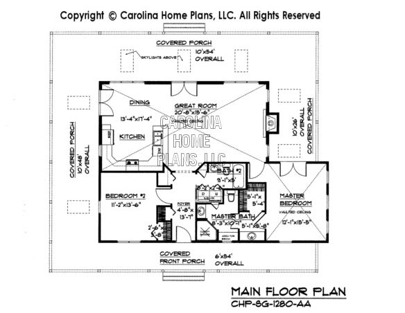 Small Country Cottage House Plan SG-1280-AA Sq Ft | make smaller ...