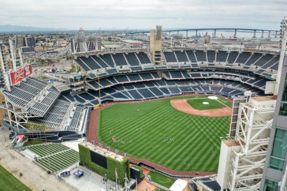 View From The 18th Floor At The Legend You Can Watch The Padres Play From Your Balcony Petco Park Downtown San Diego Baseball Stadium