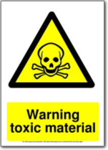 graphic regarding Free Printable Hazardous Waste Labels identified as free of charge printable caution poisonous articles caution signal Boys