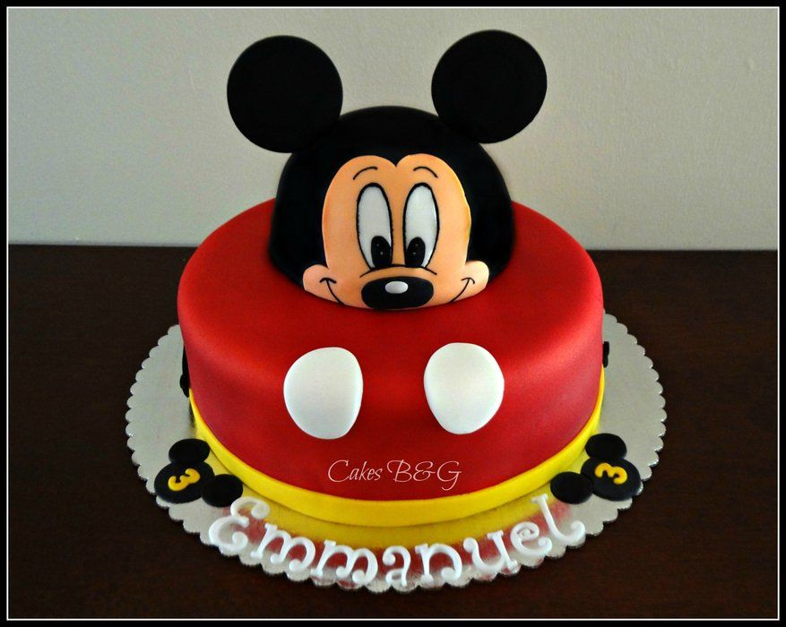 Mickey Mouse Cake Mickey Mouse Cake Decorations Mickey Mouse Clubhouse Birthday Cake Mickey Mouse Cake Topper