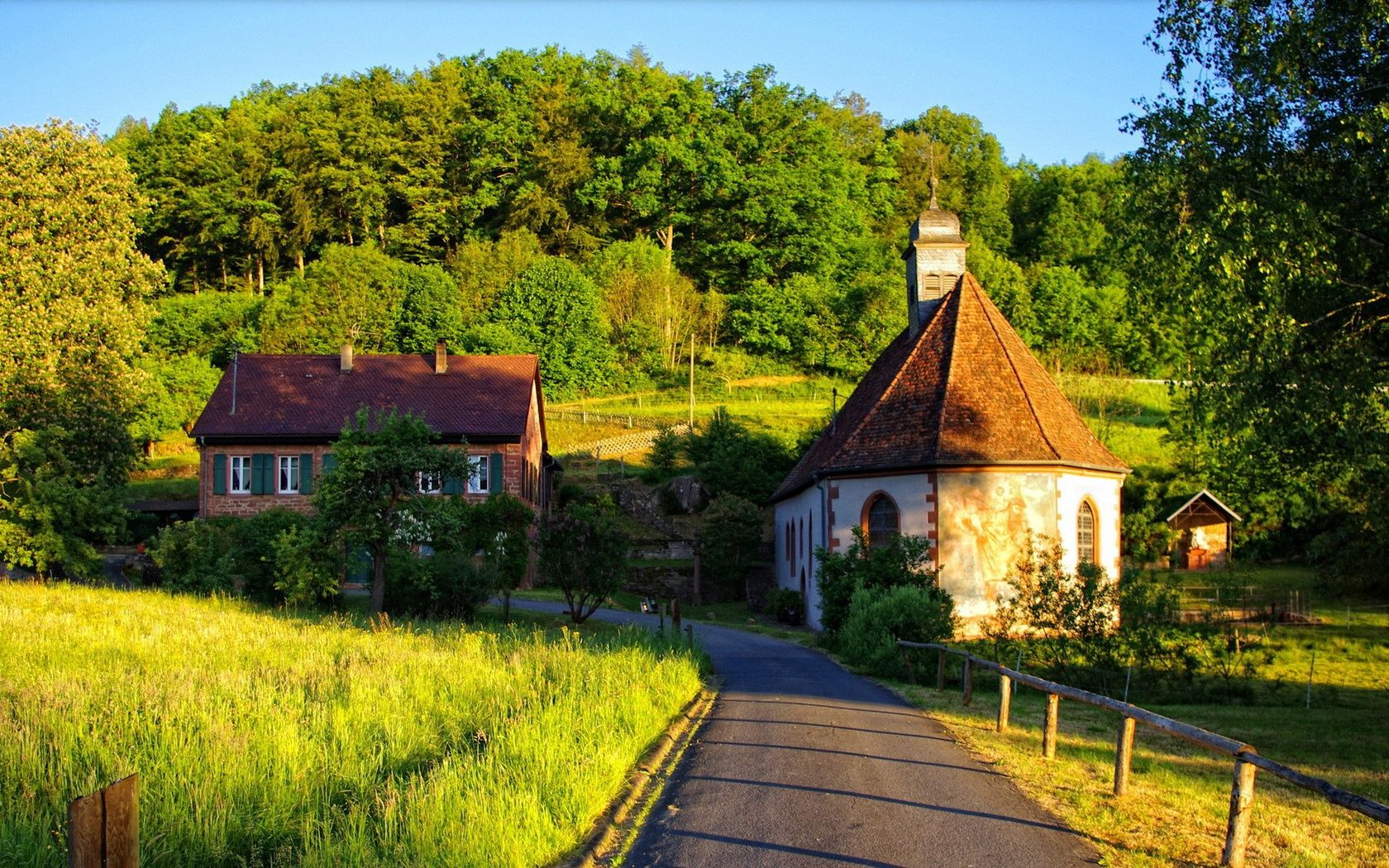 Find out: Summer Houses in Forest wallpaper on http://hdpicorner.com ... for Countryside House Wallpaper  45gtk
