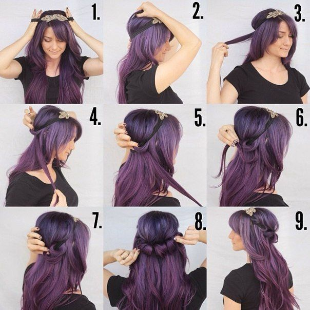 Hairstyle With Rim Hairband Hairstyle Headband Hairstyles Hair Styles