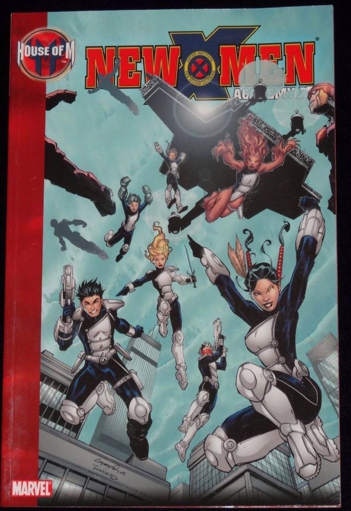 New X Men Acadamy House M Divided SHIELD Marvel Comics Softcover Paperback Book