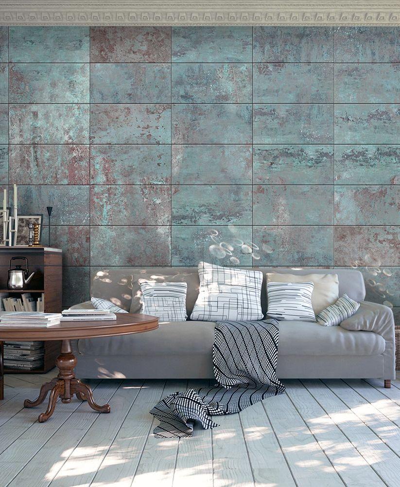vliestapete wandtapete tapete magma tapete turquoise concrete motive der tapete - Tapete Modern