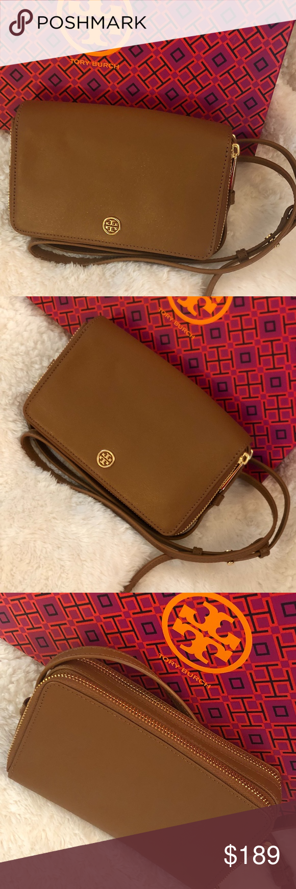 89ca6674a8e NWT TORY BURCH Parker Floral Double Zip Mini Bag NWT TORY BURCH Parker  Floral Double Zip