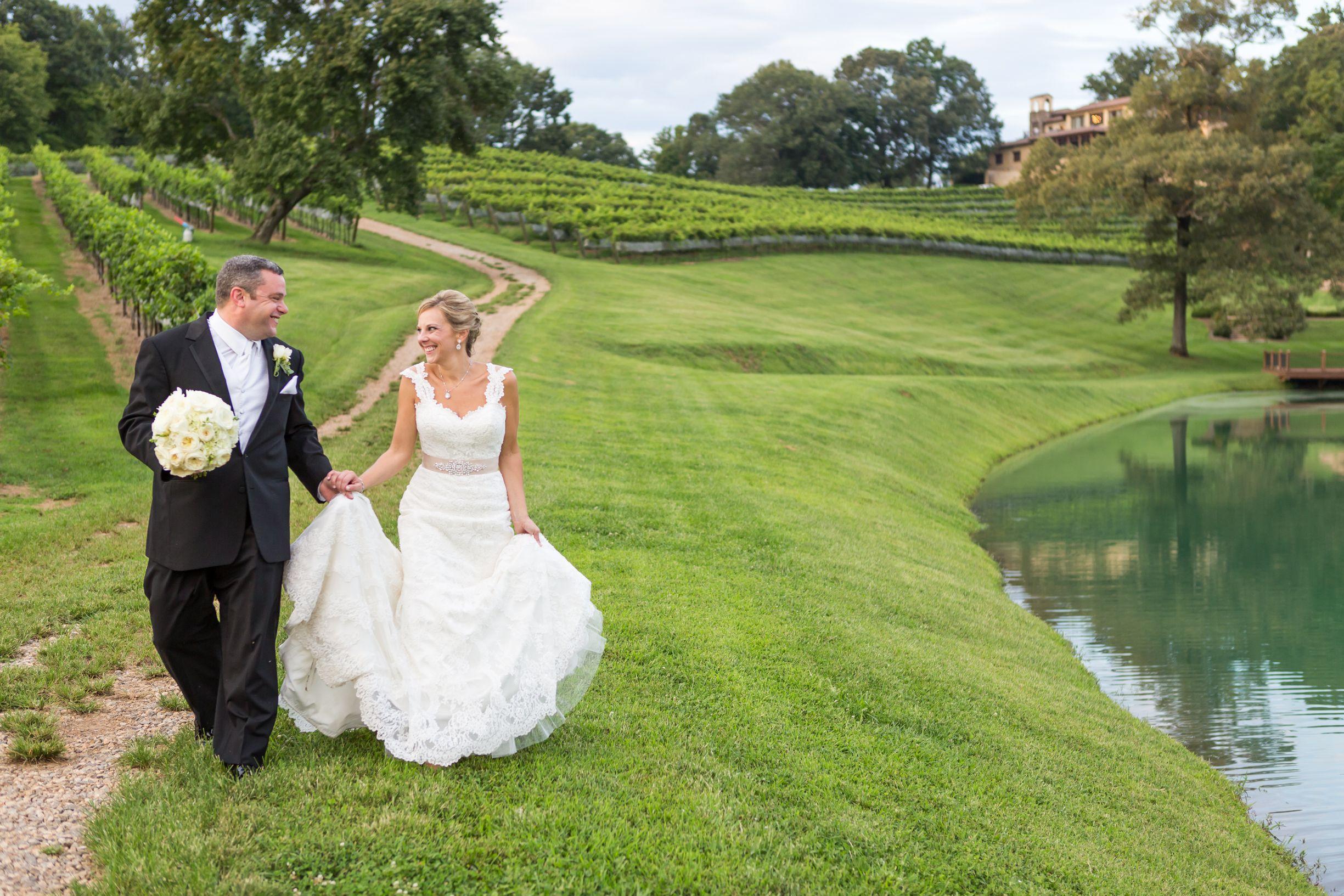 A Stylish Vineyard Wedding at Montaluce Winery and