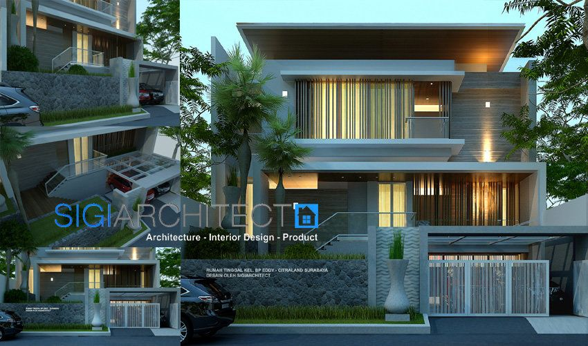 Model Rumah Minimalis Modern 3 Lantai Desain Rumah Mewah Dengan