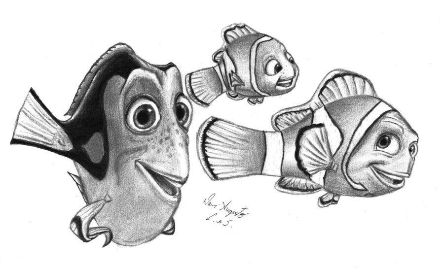 disney pixar finding nemo pencil drawing ideas