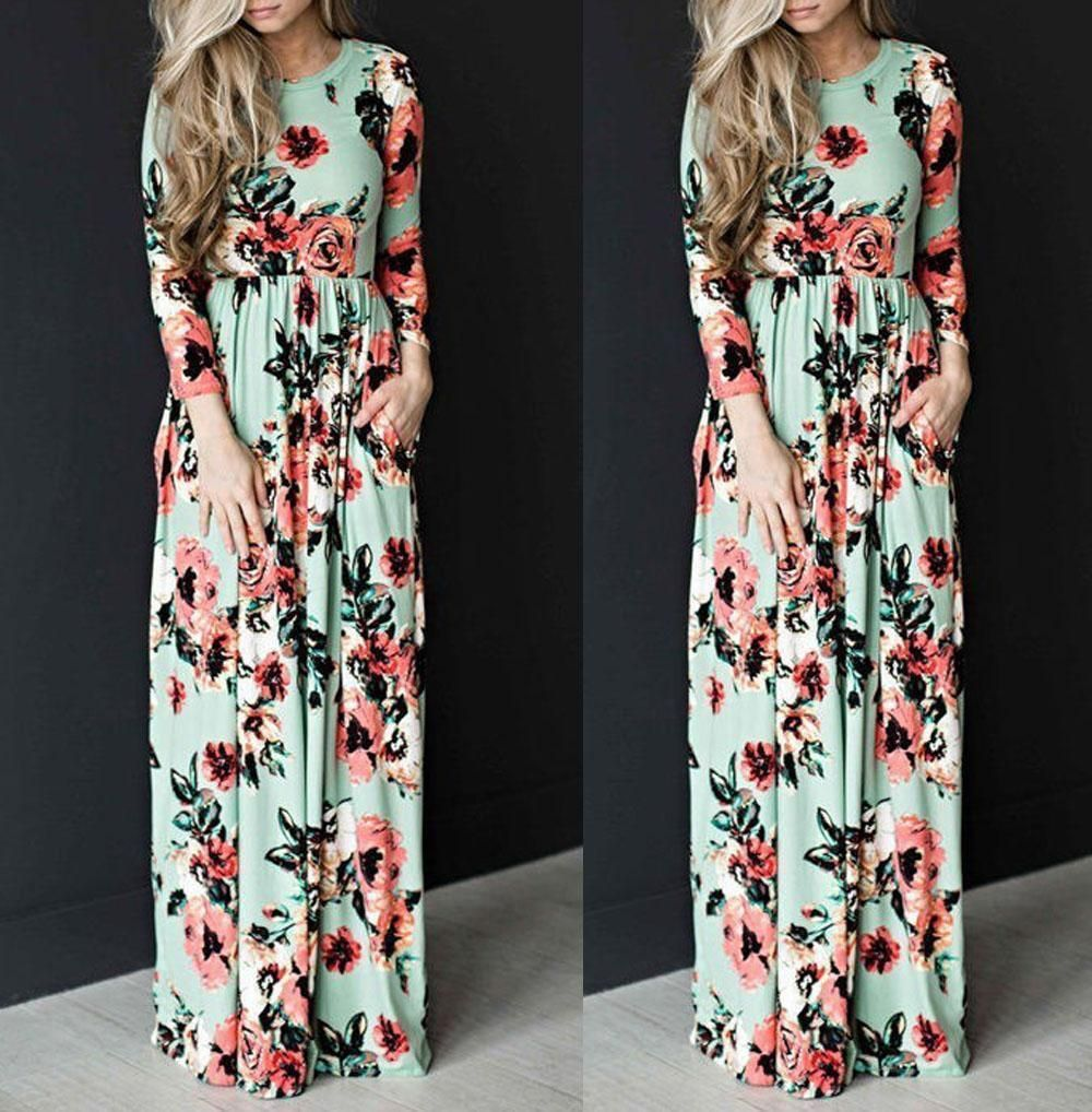 Nice great women boho long maxi dresses summer evening party