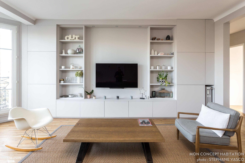 r novation d 39 un appartement de 140m2 neuilly conception. Black Bedroom Furniture Sets. Home Design Ideas