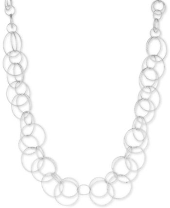 9d4447bfc278 Anne Klein Bubble-Style Open Link Collar Necklace - Silver in 2019 ...