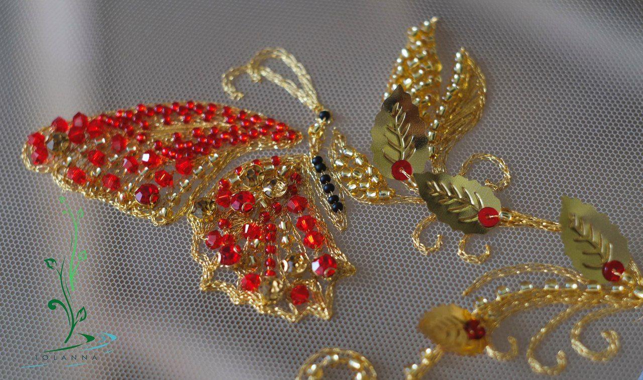 схема угловой вышивки орнамента