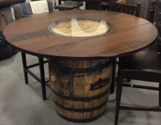 Jack Daniels Whiskey Barrel Dining Table