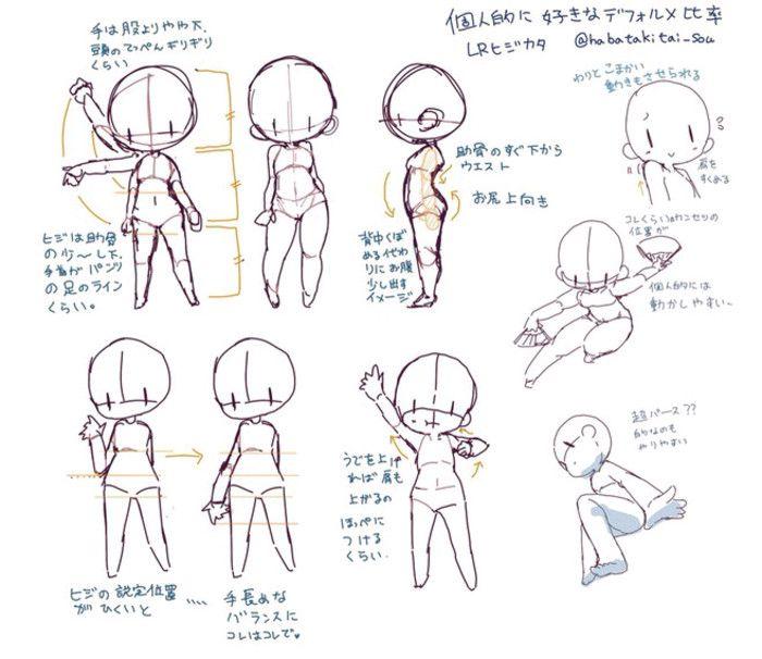 corps chibi tutorial desenho pinterest dessiner. Black Bedroom Furniture Sets. Home Design Ideas