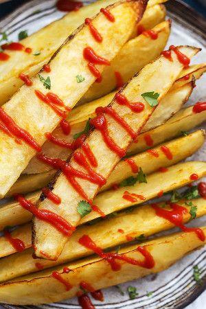 Baked Garlic Sriracha Fries   Creme de la Crumb