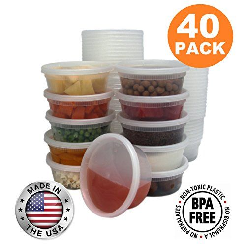 Food Storage Containers With Lids Round Plastic Deli Cups Us