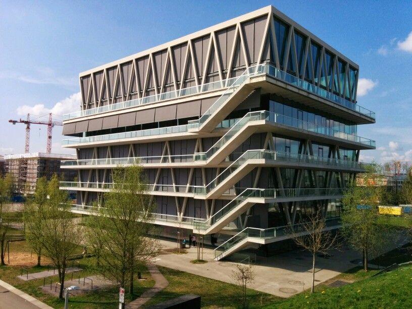 Modern school building in zurich building pinterest for Modern school building designs