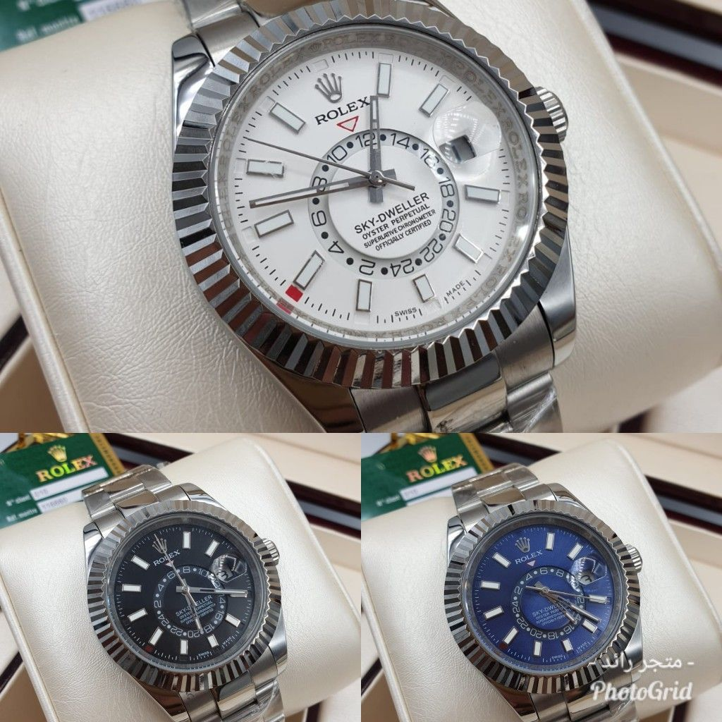 ساعة رولكس سكاي دولر Mesh Strap Watch Rolex Watches Rolex