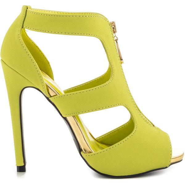 Qupid Women's Hannah - Lemon Lime Nubuck PU (3.240 RUB) ❤ liked ...