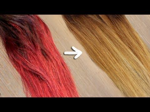 Remove red/bright dye without bleach  Gallery