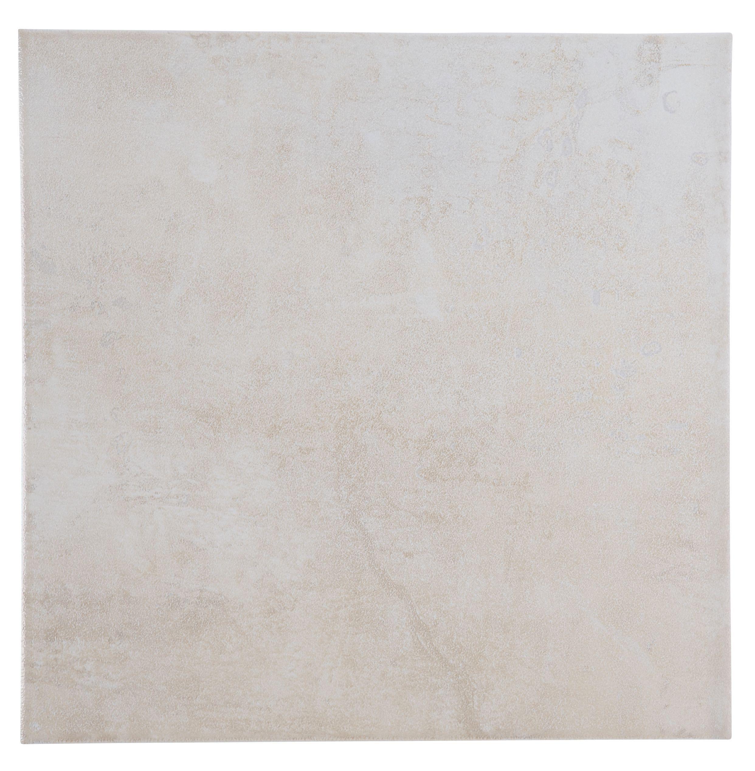 Natural Travertine Mosaic Tile L 300mm W 300mm: Metallic Cream Porcelain Wall & Floor Tile, Pack Of 16, (L