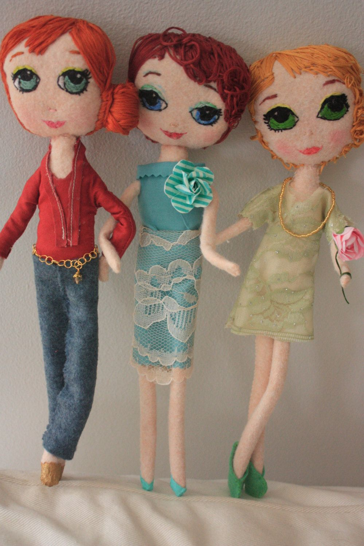 Handmade Pose Doll. Custom Pose Doll. Cloth Doll. Felt Doll. Etsy.