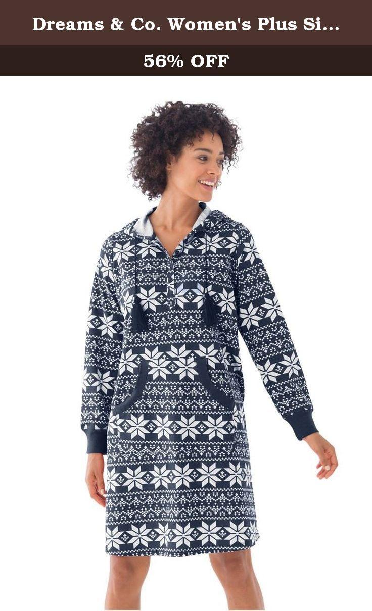 47dec8828e Dreams   Co. Women s Plus Size Short Print French Terry Henley L ...
