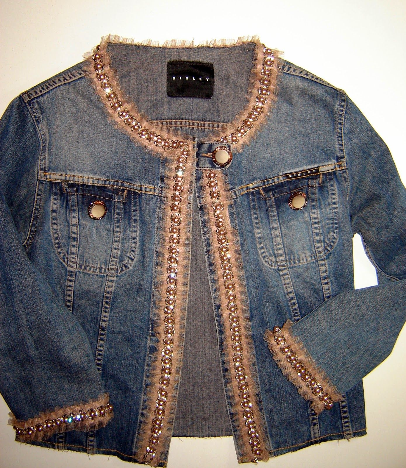on sale e626c bcadf Taller campesino: RICICLARE: giubbino jeans con perline How ...