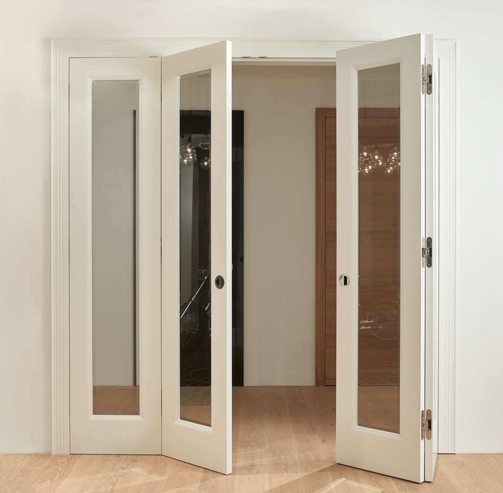 Practical And Beautiful Is What Define Made To Measure Bifold Doors The Folding Door With A Perf Internal Glass Doors Double Doors Interior Room Divider Doors